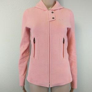 [Oakley] Peach Cross Ribbon Fleece Zip Up Jacket